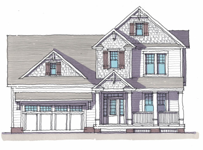 New Bern Rendering - Shingle Style